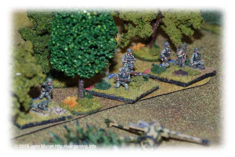 On the German right flank - a Platoon awaits the order to attack...