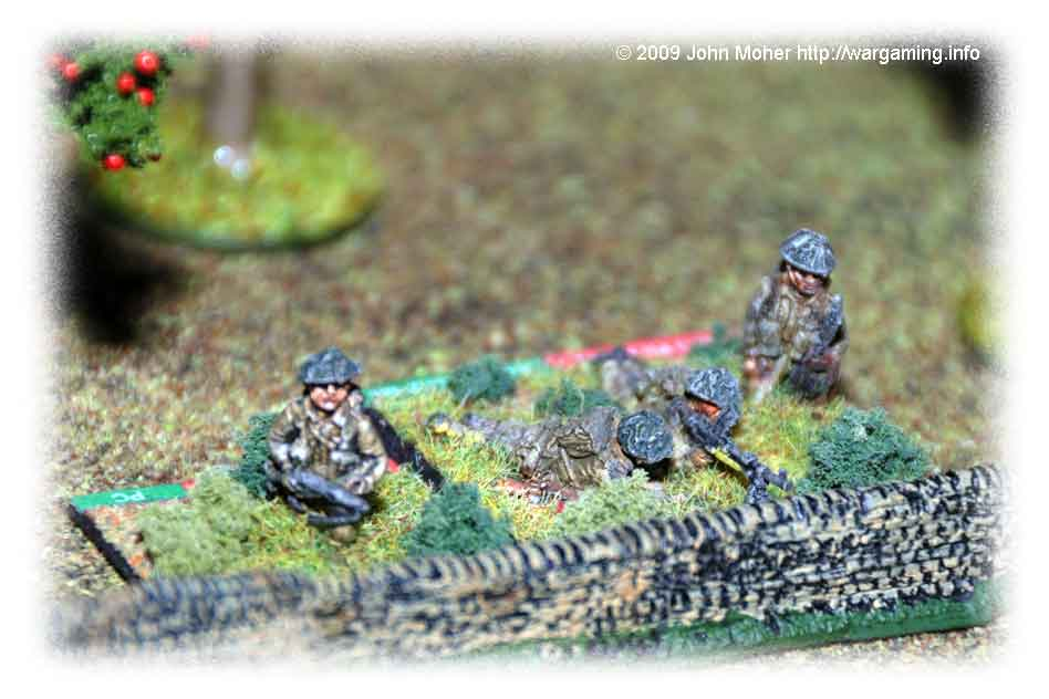 The British Tommies hang on against the galling German fire...