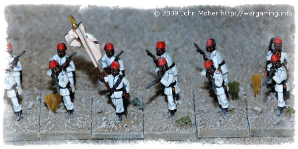 More Egyptian Fellahin Infantry - this time the 3rd Company (White Flag).