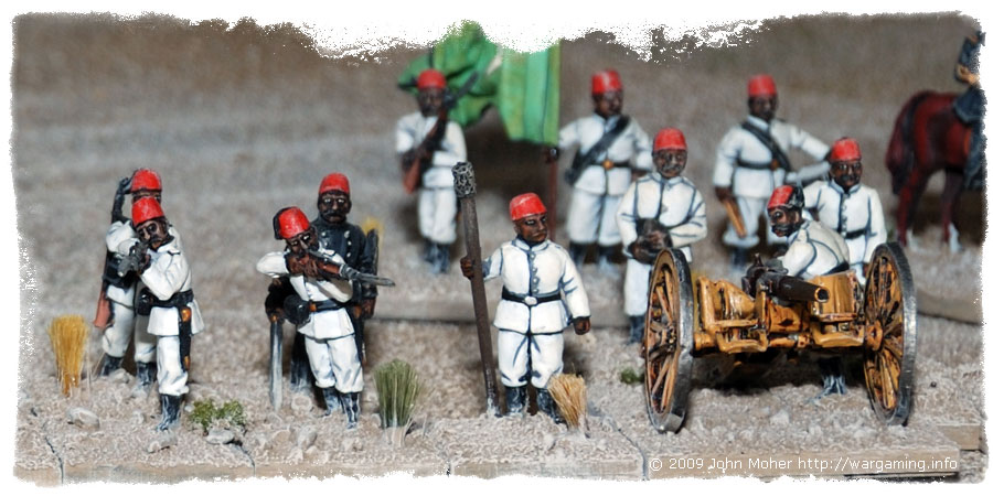 Close up of part of 3rd Company and the Artillery.