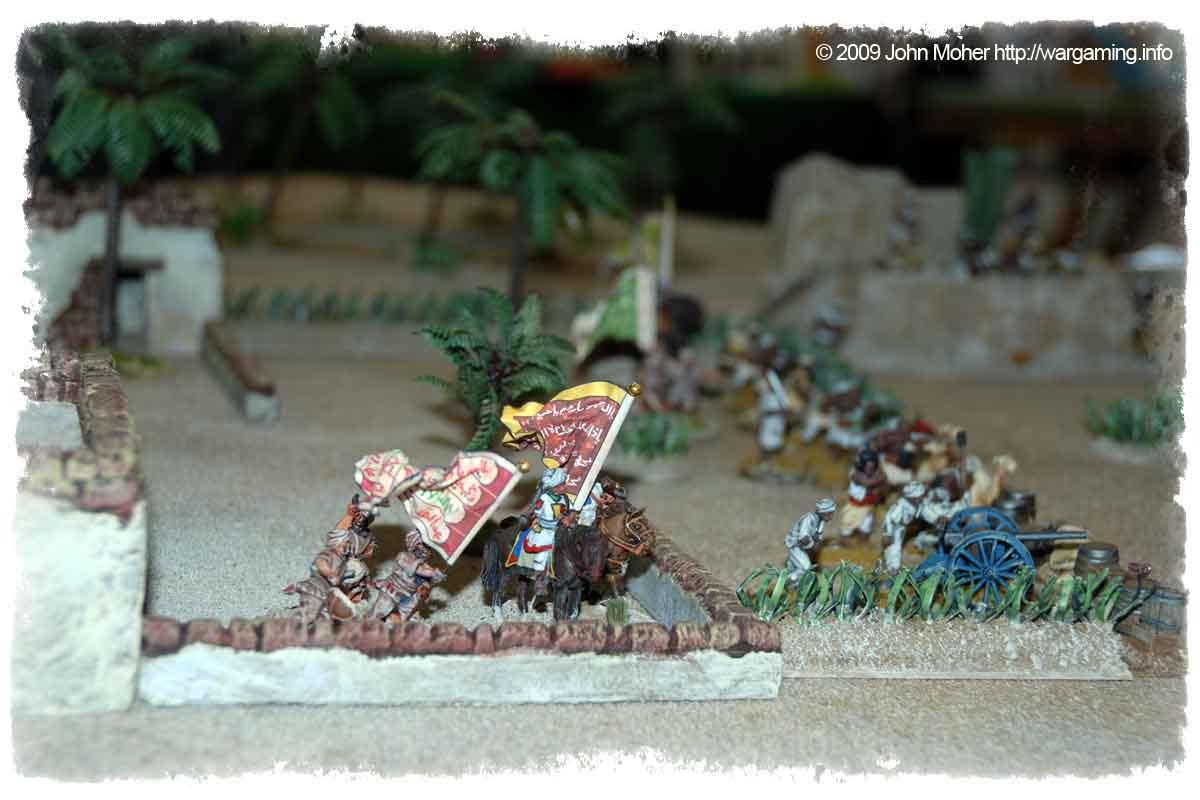 The Dervish forces defending the village...