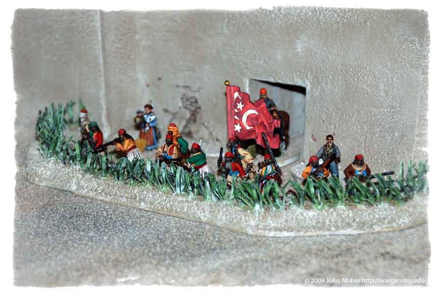 Bashi-Bazouks defend the gates of Old Dongola.