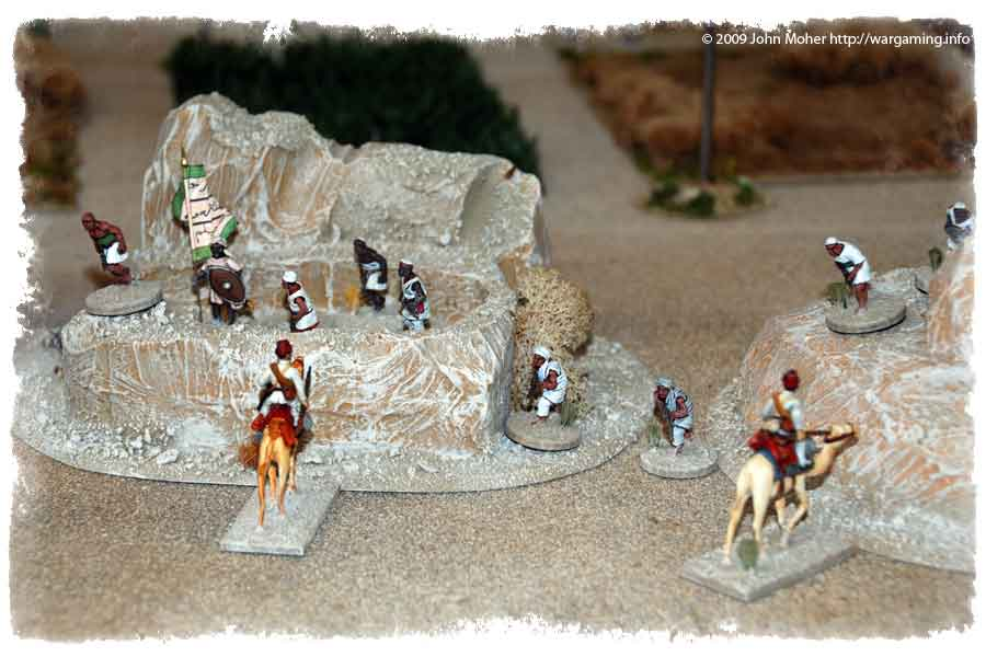 Meanwhile the Egyptian Camel Corps scouts discover Dervishes in the nearby hills...