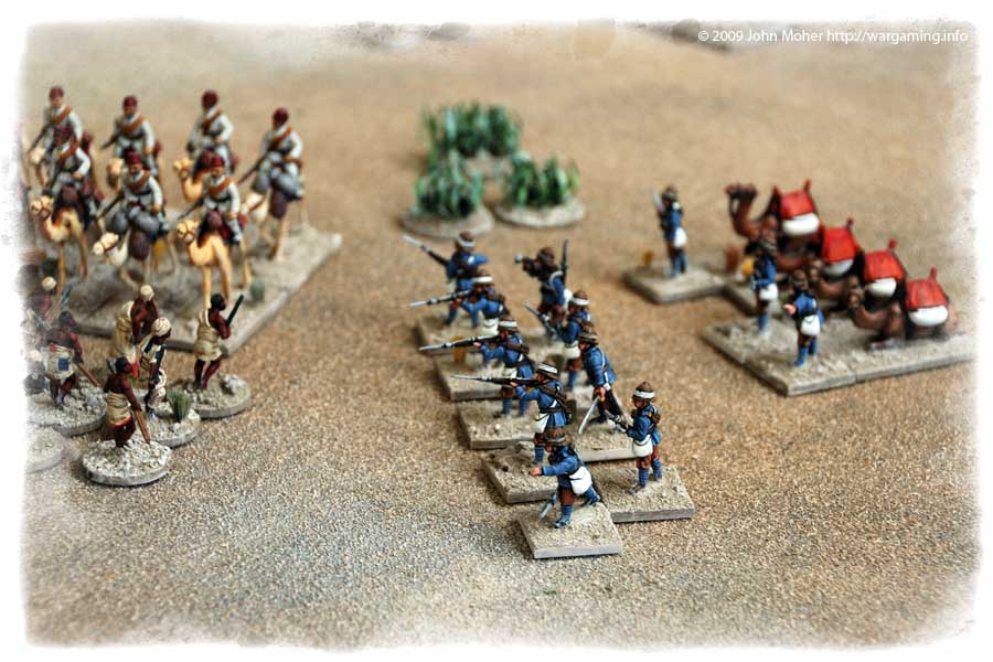 The British Camel Corps dismount and come to their Egyptian counter-parts aid.