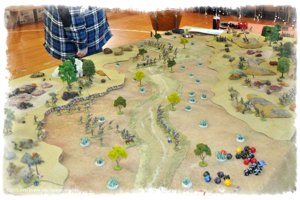 Well underway, as the attack approaches the high ground the Turkish line starts to solidify.