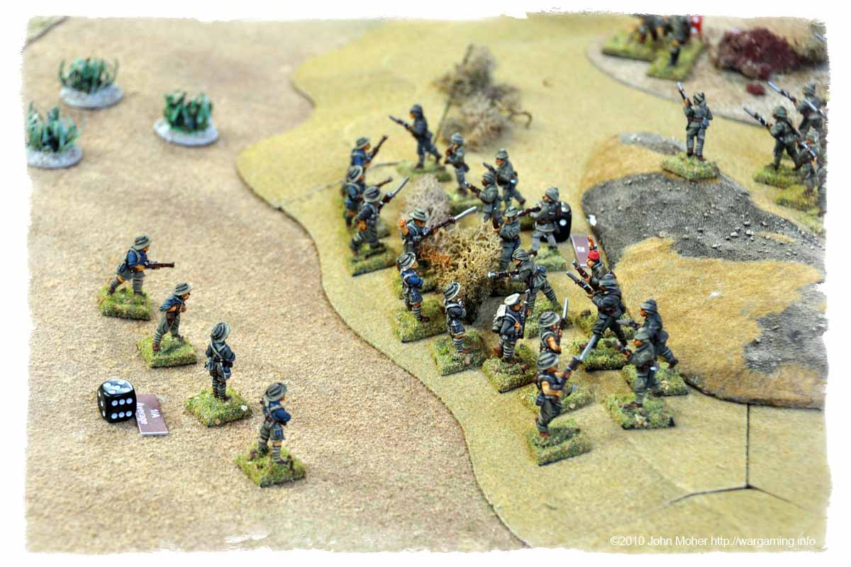 In with the bayonet - Johnny Turk puts up a stout resistance against the Australians.