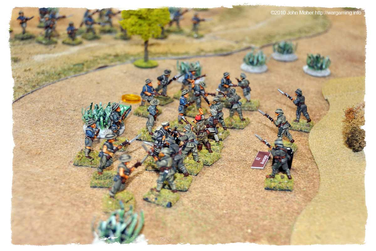 Having thrown the first Australian charge back the Turks counter-charge!