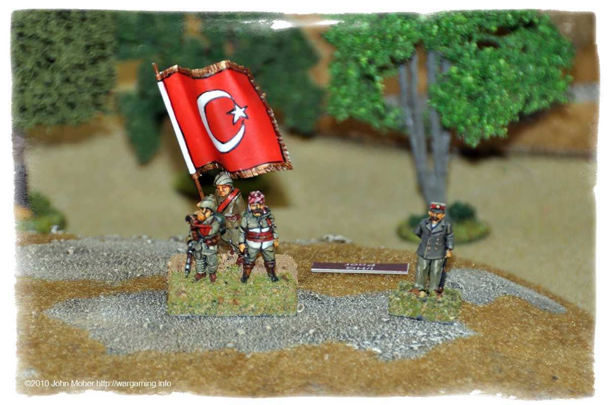The Turk Battalion's Headquarters, along with German 'advisor'.