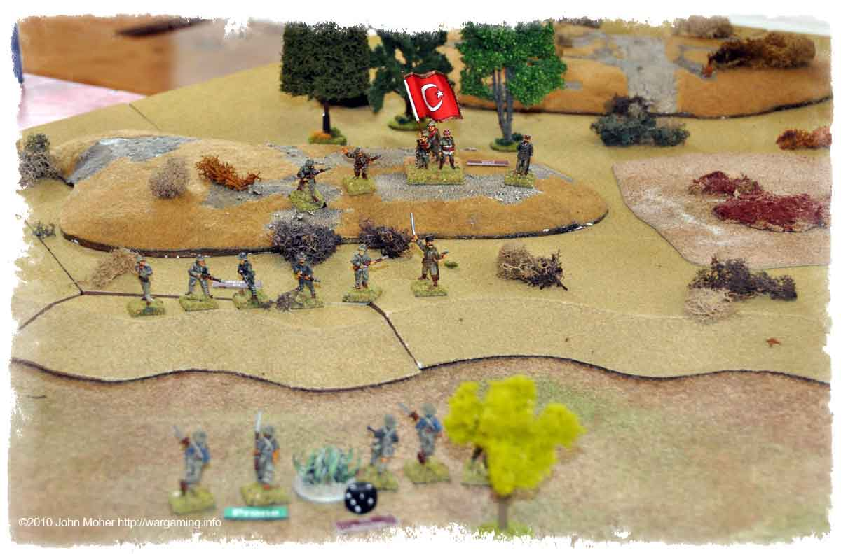Heavily depleted Turk & Australian Companies, the latter have been repulsed with very heavy casualties.