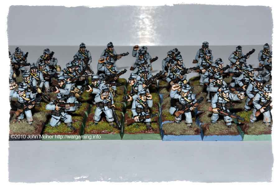 Good shot of most of the Feldjäger (with a few Schützen on left).