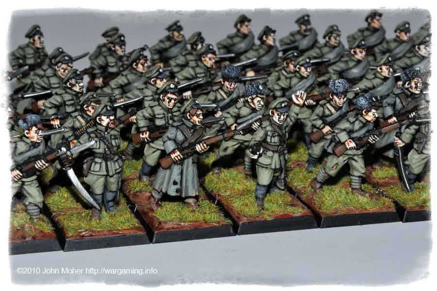 The well campaigned Copplestone Russian Infantry!