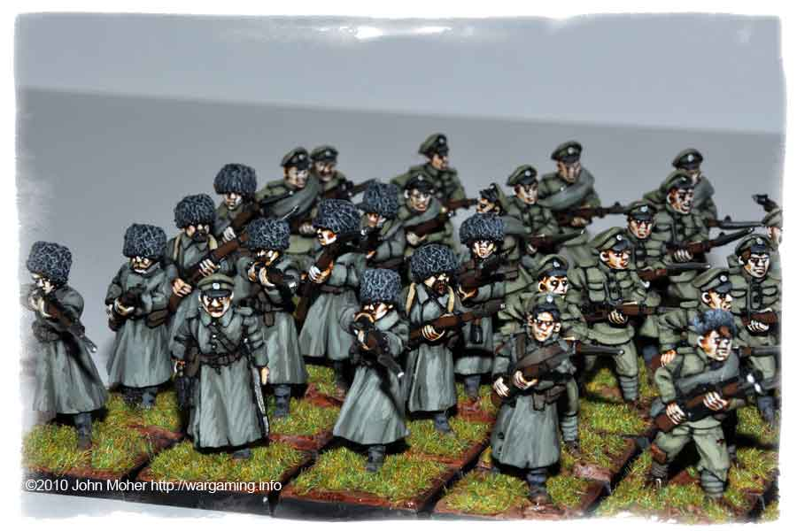 More of the Copplestone Siberians & Raggardy Infantry (from Back of Beyond range).