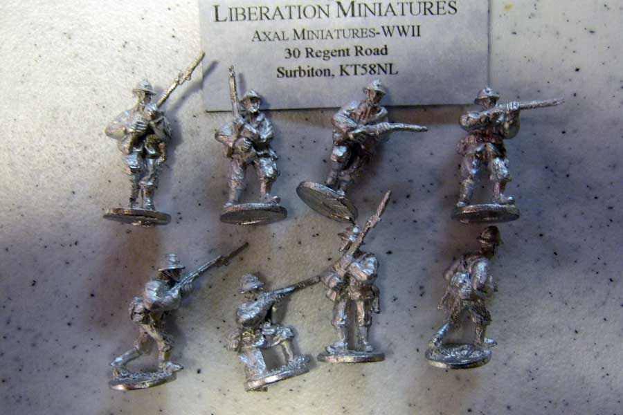 Axal-Liberation Miniatures (Rolf Hedges) 1940 Belgians for comparison