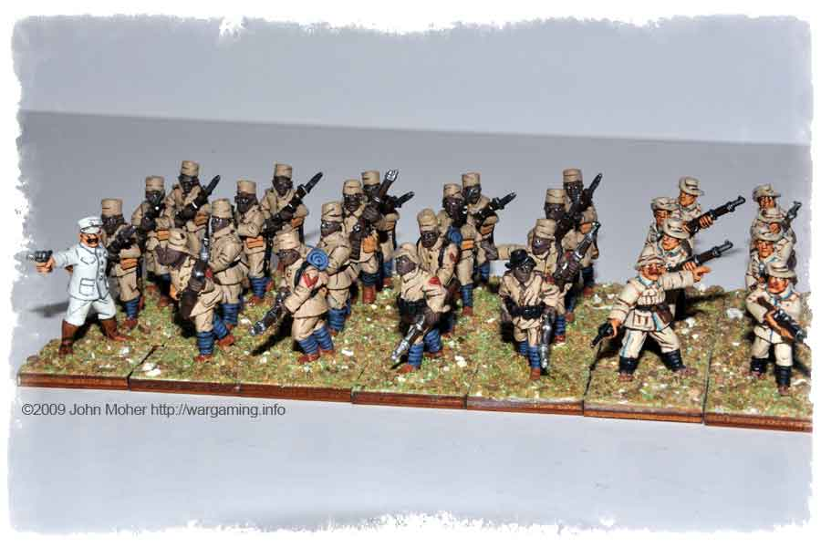 Schutztruppe Askari (All Brigade Games figures except the Copplestone Castings Officer).