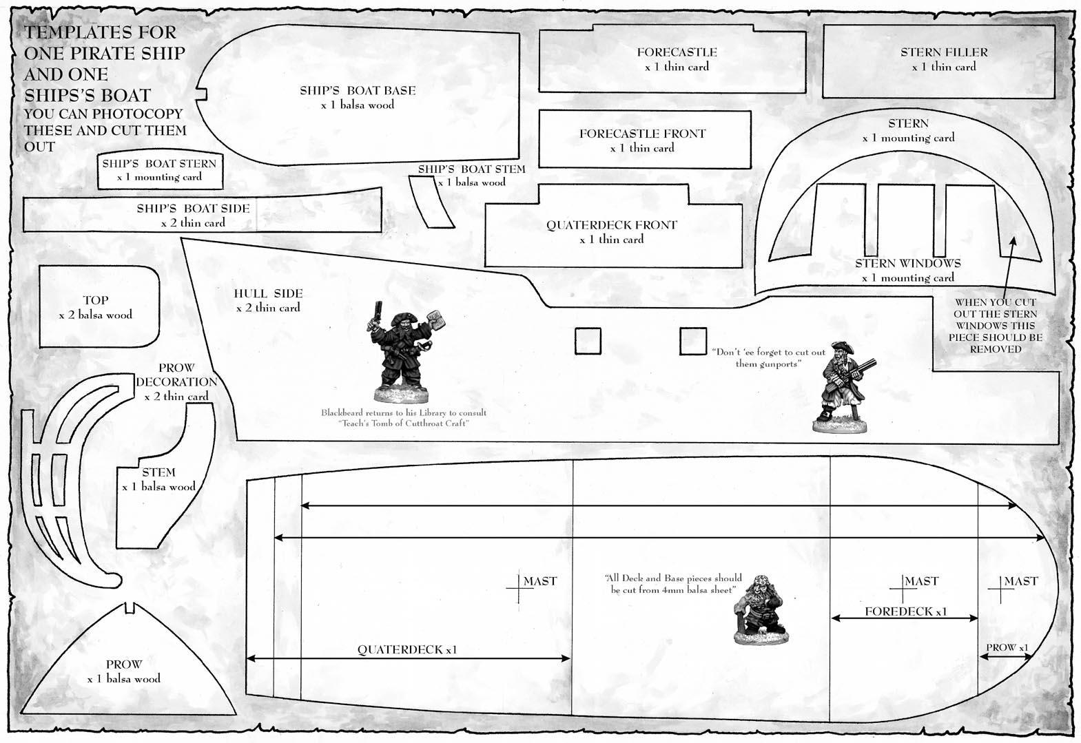 pirate ship plans pdf plans diy free download puppet theater plans