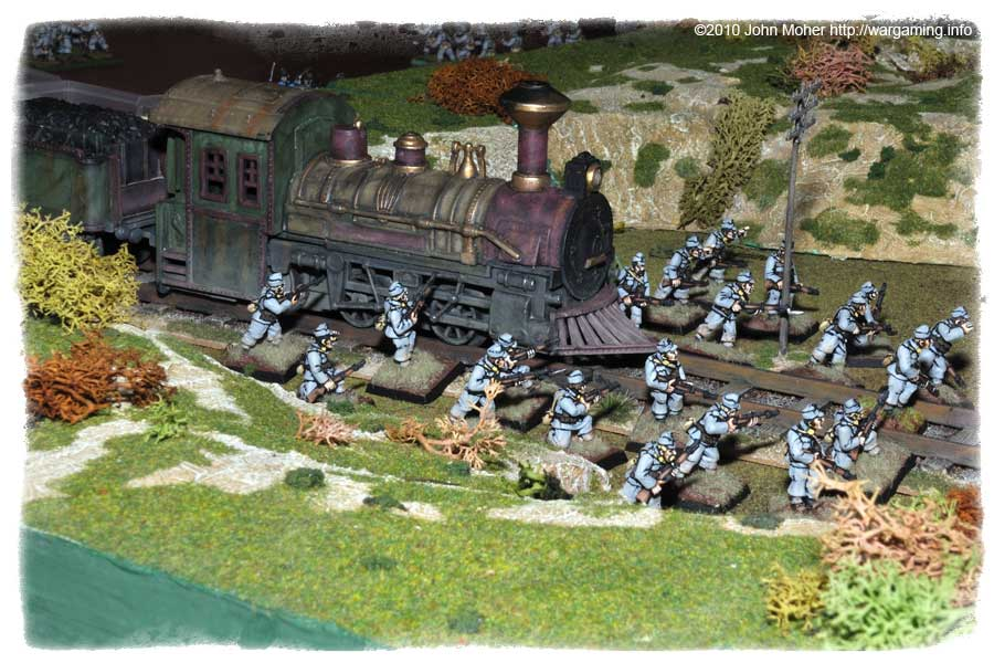 Austro-Hungarian reinforcements belatedly rush forward past the train