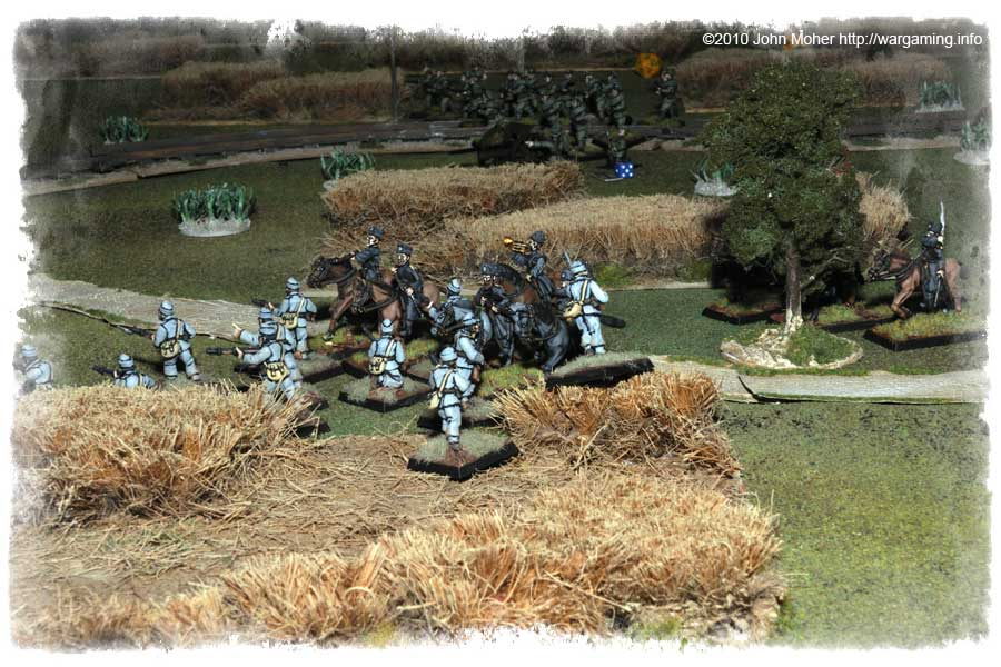 The Infantry do battle with the Cossacks
