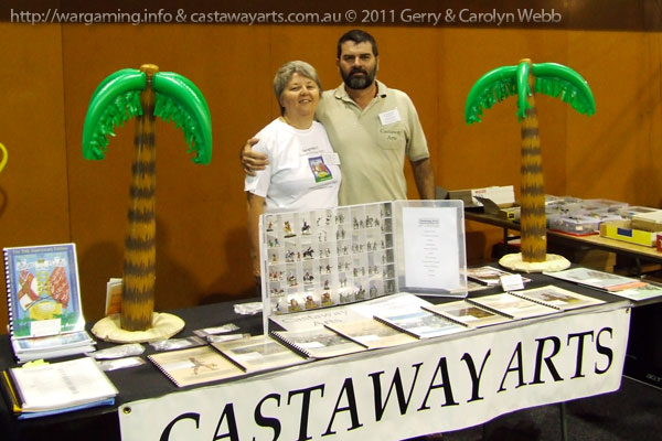 Carolyn & Gerry and the Castaway Arts stand at BattleCry 2011.
