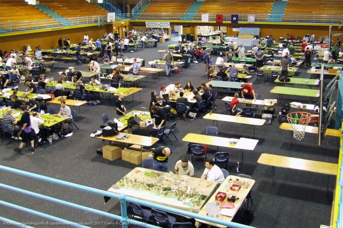 Game 3 - One of the several BattleCry Gaming Halls & Rooms. We are at the bottom right.