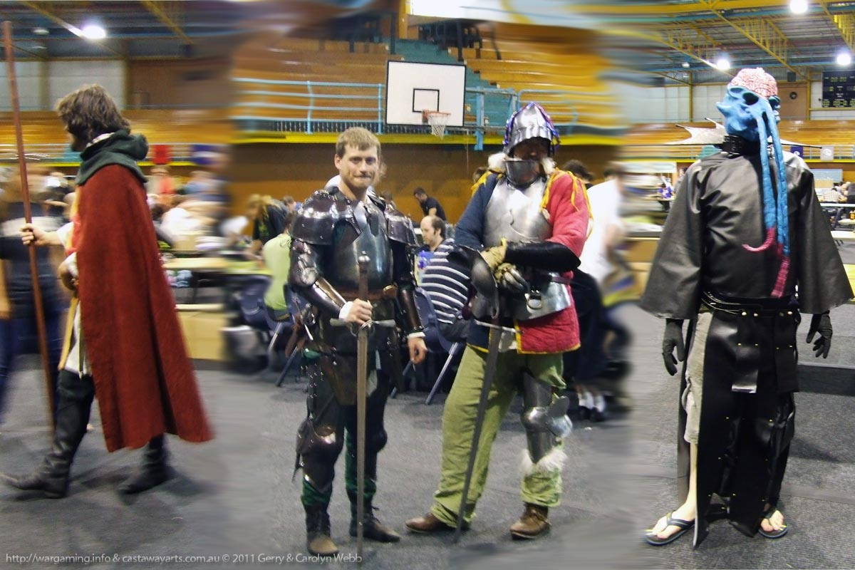 BattleCry LARP-ers - A Wizard, 2 Fighter-Warrior types, and a Mind Flayer!