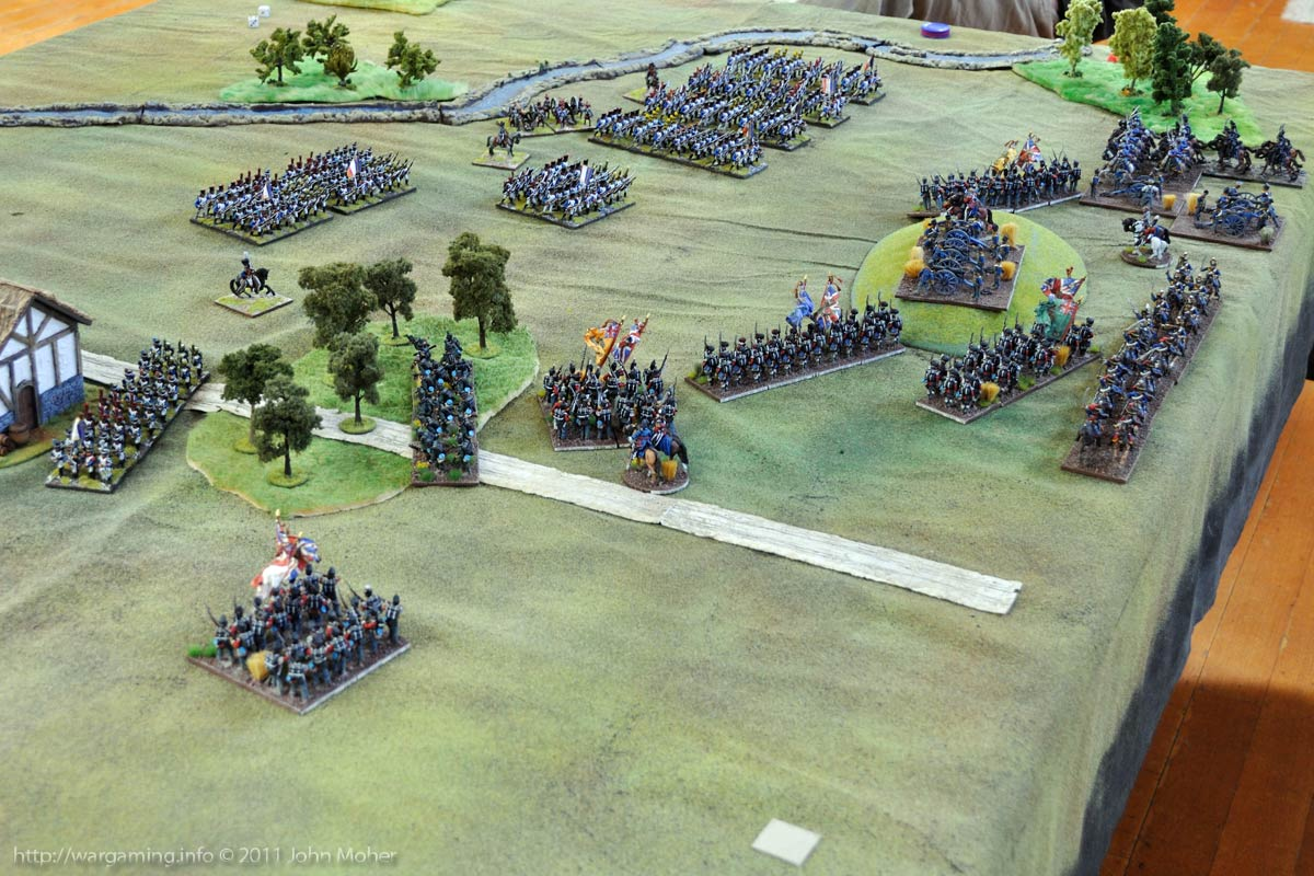 End of Turn 6: British Light Cavalry arrives as the French deploy to attack.