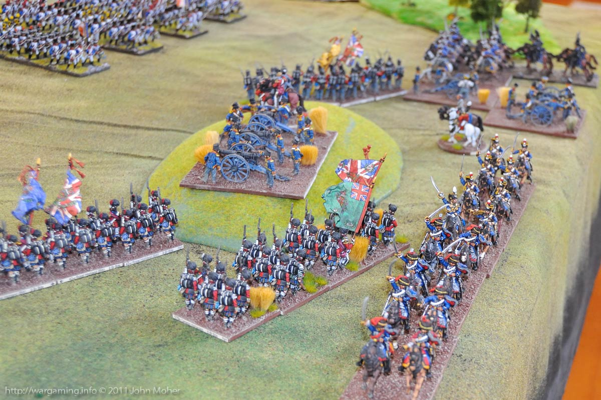Turn 6: Close-up of the British right and the 5th Cavalry Brigades arrival.