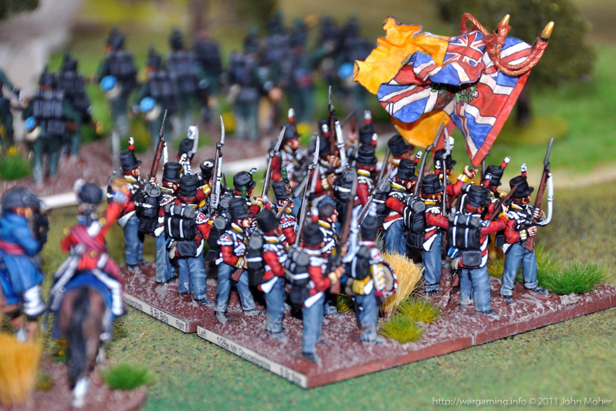 Close-up of the 1/28th North Gloucestershires as they advance to enter action.