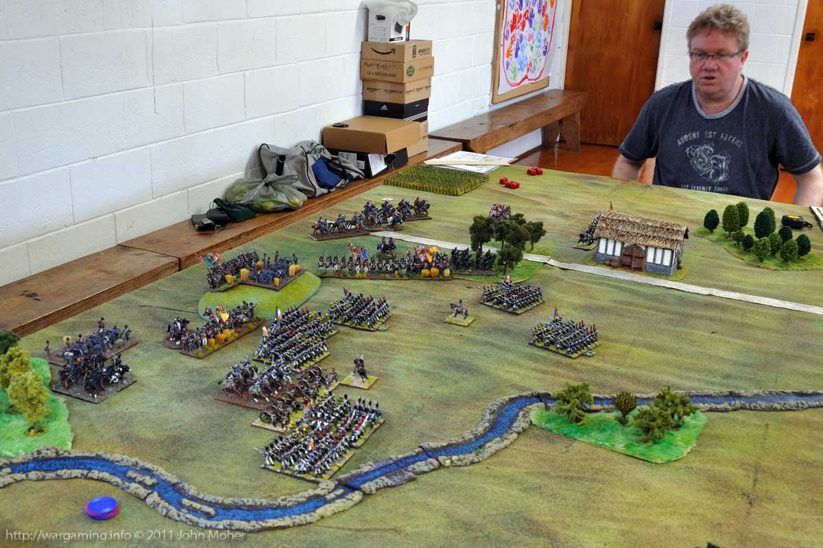 End of Turn 8: The Charge of the 3rd KGL Hussars as another AWC member (Mike) looks on.