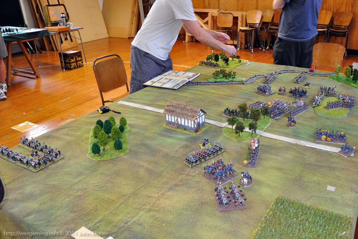 End of Turn 12: The French Heavy Cavalry (top-left - who have previously arrived on Turn 11).