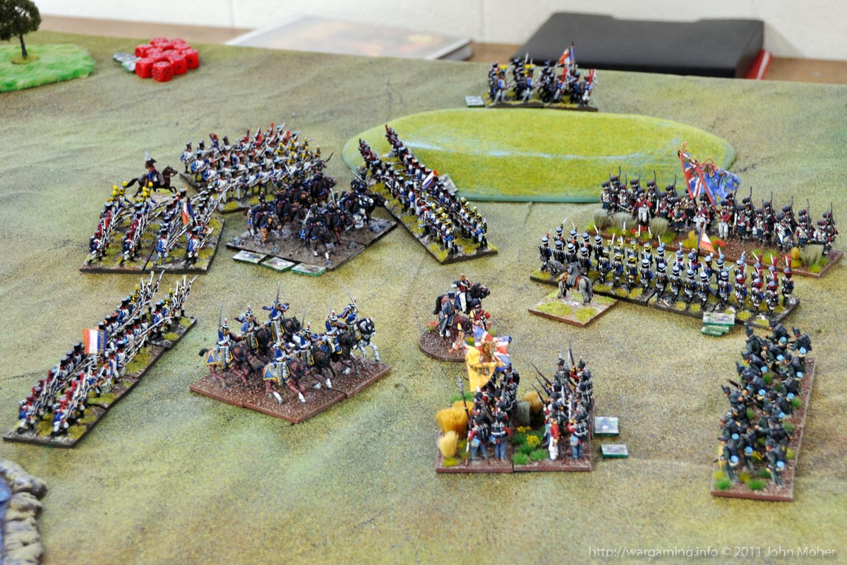 End of Turn 17: The Cauldron round the Brunswickers as the 3rd KGL Hussars slowly recover.