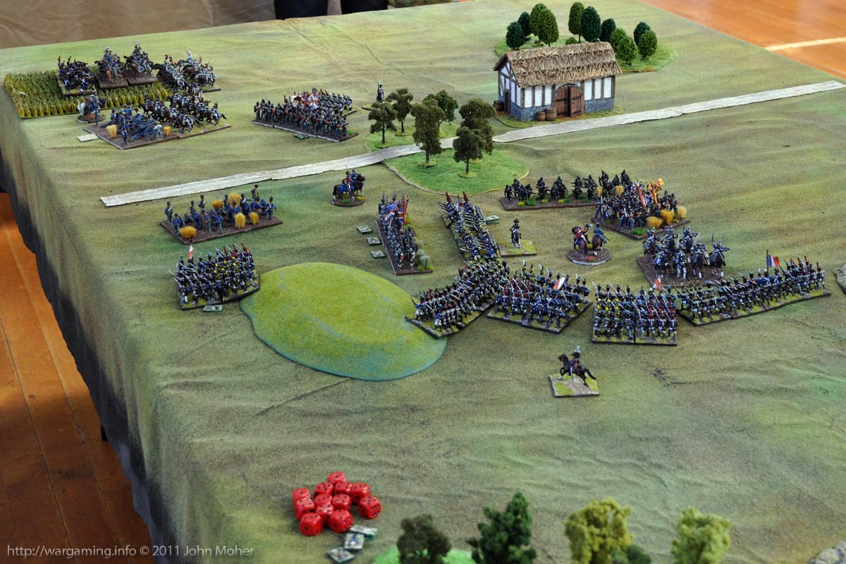 End of Turn 19: Brunswick Hussars are gone, but game ends (so British Division avoids collapse).