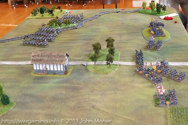 Turn 2: End of Turn - the French have swarmed forward over the brook undetered