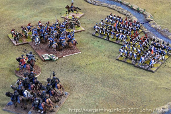Turn 10: The 3rd KGL Hussars about to overrun the French Foot Battery