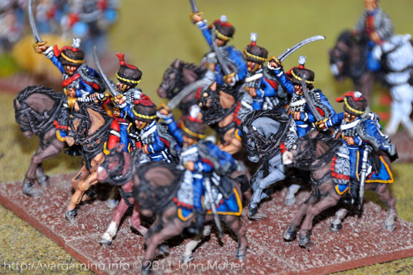 Turn 10: The 7th (Queens Own) Hussars on the British left