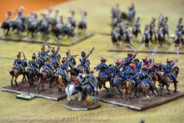 Turn 13: 13th Light Dragoons & 7th Hussars face the French Heavies