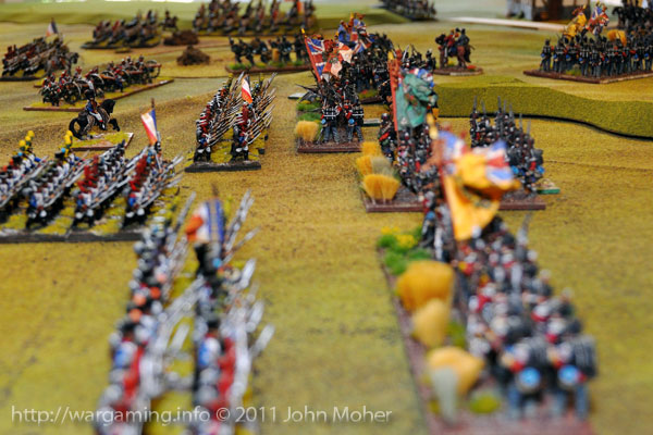 Turn 5 - The first clash is near on the British left