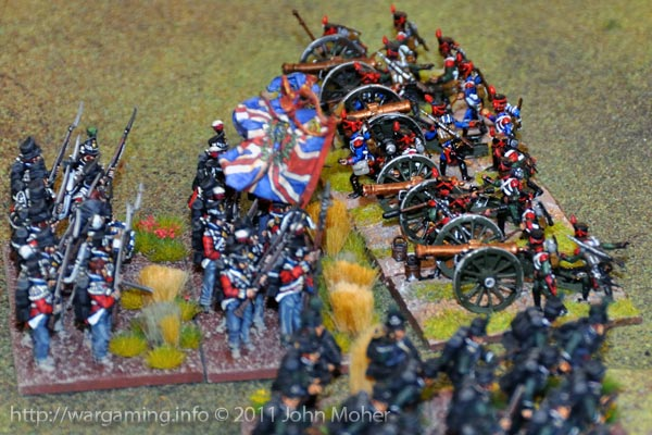 Turn 7 - The Royal Scots drive off Barbauxs Artillery