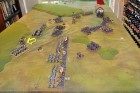 End of Turn 7: Crash! On the British left the French charge all along the line...