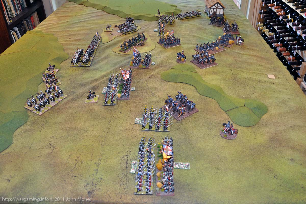End of Turn 8 - Countercharge! 7th Hussars and 1/32nd Cornwall try and redress things.