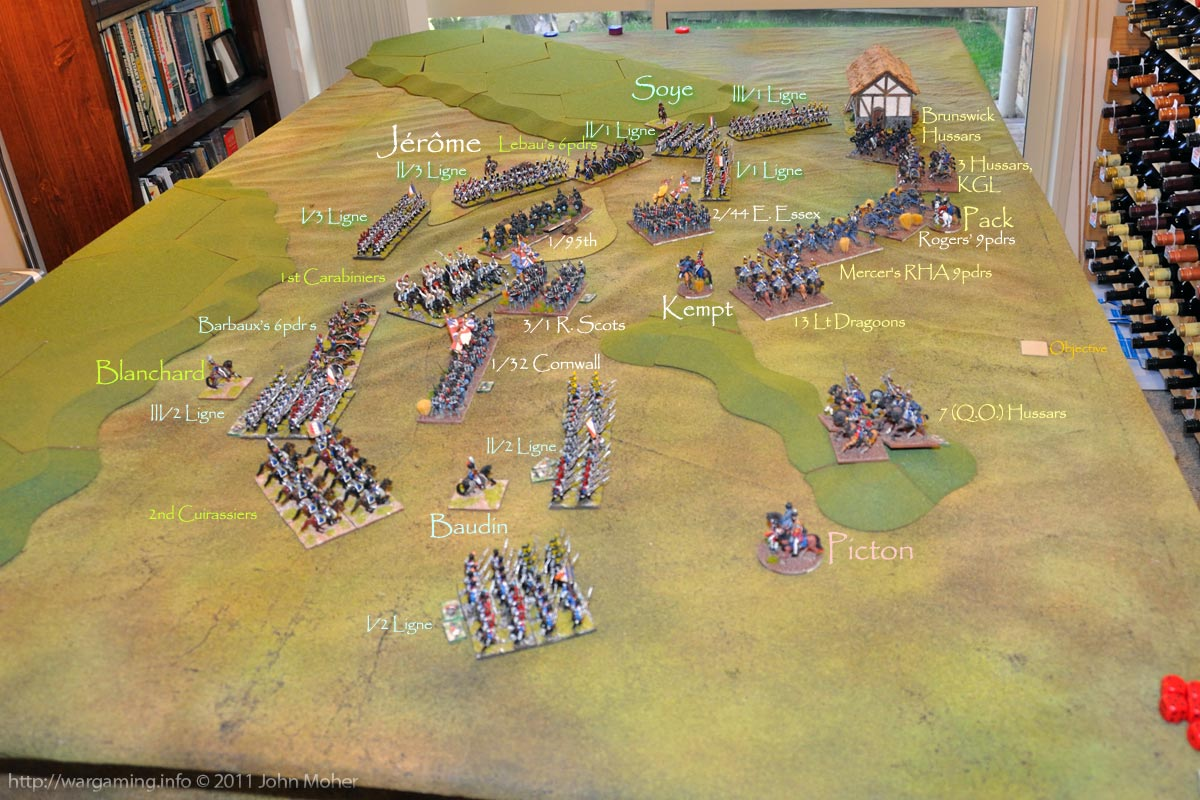 End of Turn 9 - The French have rendered the British position precarious at best.
