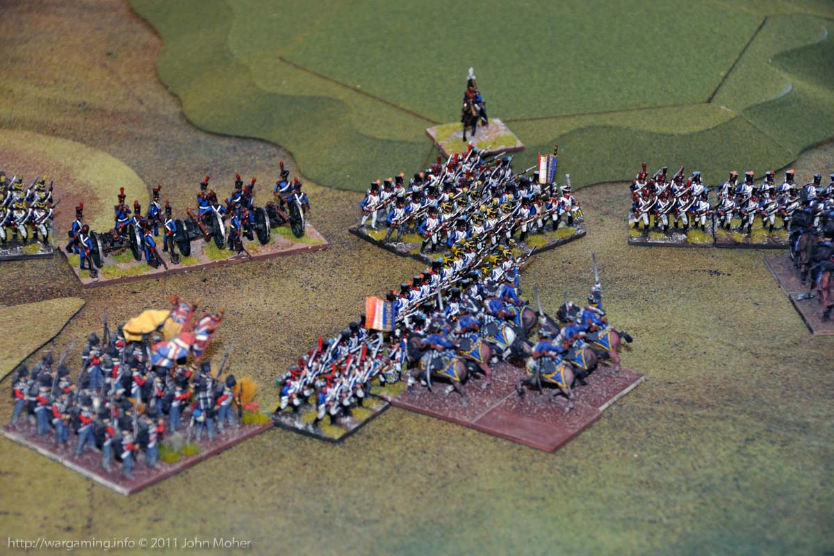 Mid-Turn 10 - The 3rd Hussars KGL, and 2/44th East Essex, charge the I/1st Ligne