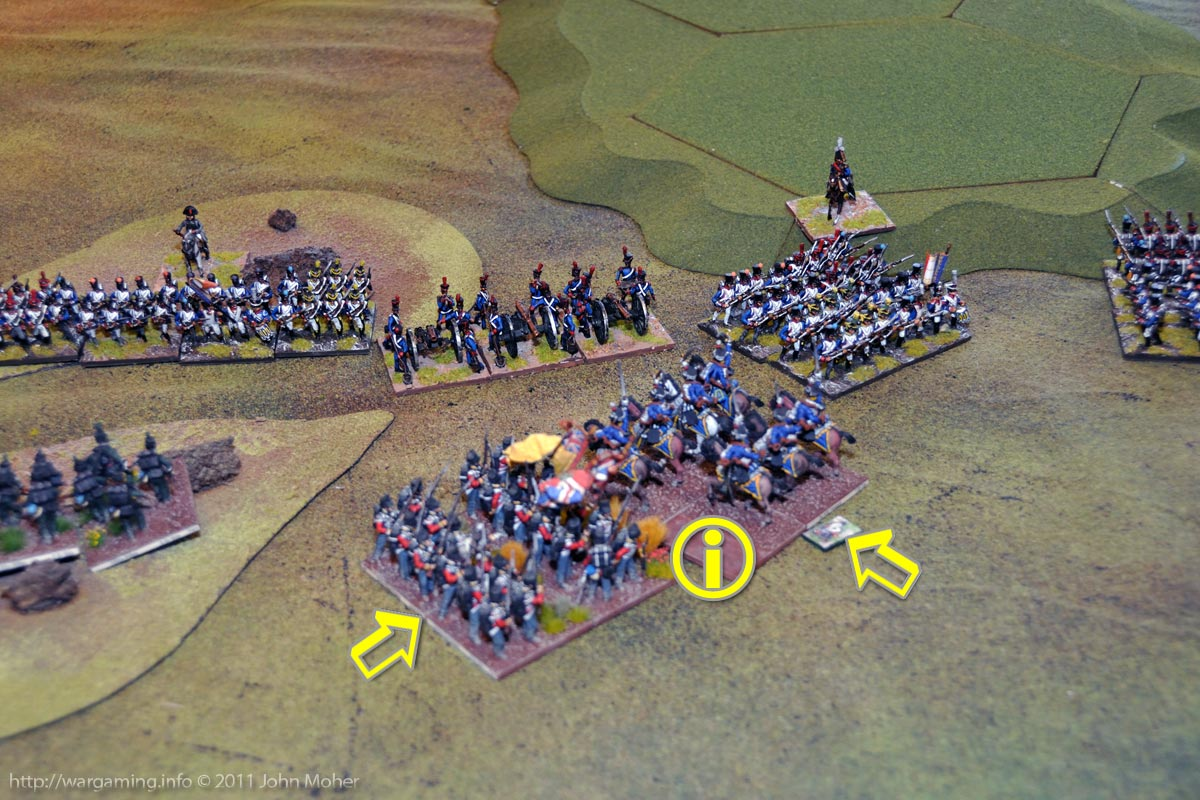 Early Turn 11 - The I/1st Ligne pay the price - broken by the joint KGL Hussars & East Essex assault.