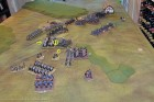 End of Turn 14 - The Royal Scots are destroyed, and the British charge desperately everywhere (5 units) as they start to check Army Morale!