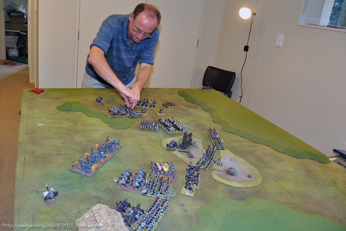 Early Turn 15 - Cam (Jerome) reacts to the fanatical British charges.