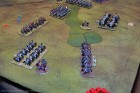 Early Turn 18 - 7th Hussars continue their skilful manoeuvring falling back in front of the 2nd Cuirassiers.