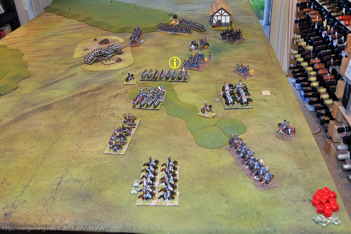 End of Turn 18 - The I/3rd Ligne have the ignominy of being broken in bayonet combat by Cavalié Mercer's RHA gunners!