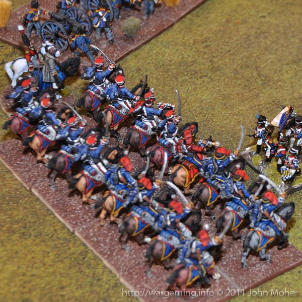 The 15th (King's) and 7th (Queen's Own) Hussars (left & right respectively) arrive!