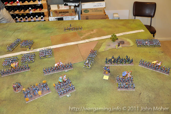 End of Turn 5 - As the French attack develops...