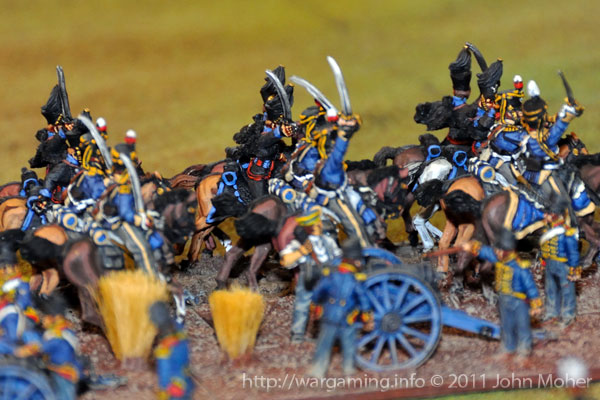 End of Turn 6 - The arrival of the 2nd Brunswick Hussars and 13th Light Dragoons