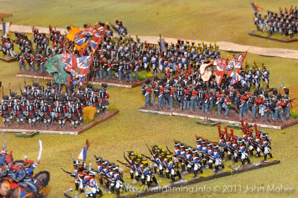 Late in Turn 7 - The dastardly III/2e Ligne in foreground